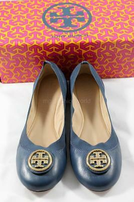 a25783faa63c New Women Tory Burch Caroline Ballet Shoes Flats Newport Navy Leather US  size 7