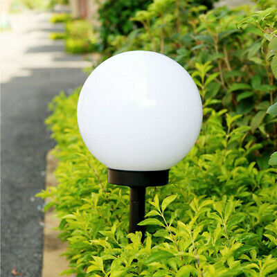 LED Solar Power Outdoor Garden Path Yard Ball Light Lamp Lawn Road Patio White