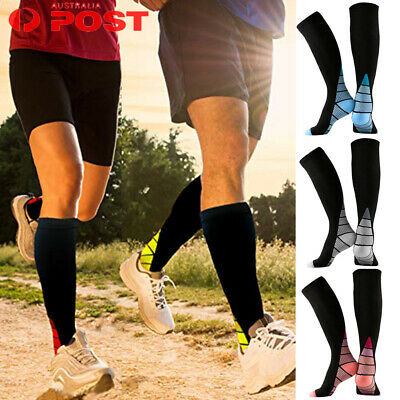 Medical Compression Socks Travel Running Anti-Fatigue Varicose Stockings Black