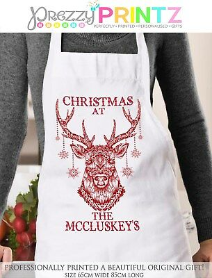 Personalised Christmas At The Apron Gift Mom Dad Mr & Mrs Wedding Anniversary