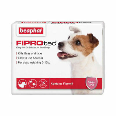 Beaphar Fiprotec Spot On Small Dogs (5-10kg) 1 Treatment Flea Tick 5 Weeks