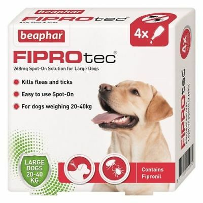 Beaphar Fiprotec FIPROtec Flea Spot On  Large dog 4 Treatment