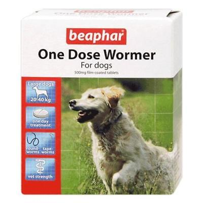 Beaphar One Dose Wormer Tablet Worming for large dogs  (4 tablet pack)