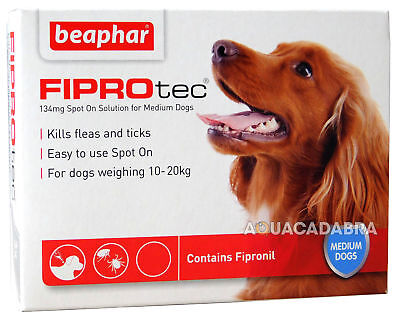 BEAPHAR FIPROtec SPOT ON FLEA TICK TREATMENT Solution MEDIUM DOG 1 TREAMENT