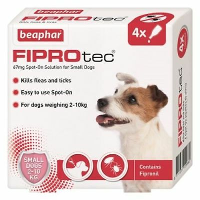 Beaphar FIPROtec Spot-On For small dogs - Flea and Tick Treatment 4 Pack