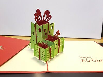 3D Pop Up Card - A Colourful Box for Birthday presents