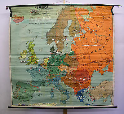 Schulwandkarte Beautiful Old Europakarte Countries Economy 199x193c ~ 1957