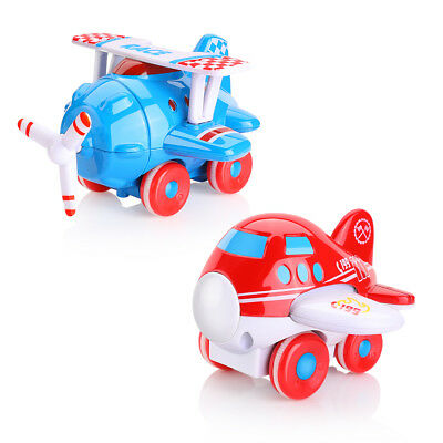 Mini Vintage Metal Plane Model Aircraft Glider Biplane Airplane Model Kids Toy