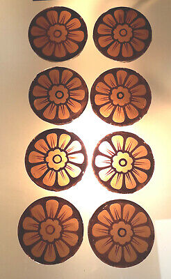 8 x early Victorian Stained Glass Roundels @ 40mm diameter