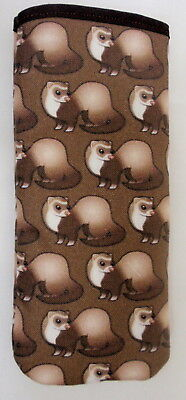 FERRETS ALL OVER GLASSES CASE ideal small gift
