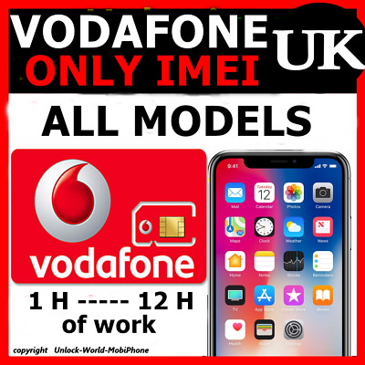 unlock all iphones models vodafone uk only imei needed