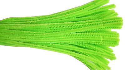 Jumbo Chenille Sticks Pipe Cleaners Lime Green 12mm x 30cm Pack of 15 CF144