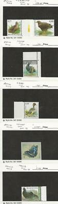 Belgium, Postage Stamp, #2346-8, 2481, 2605, 2618 Mint NH, 2009-13 Birds, JFZ