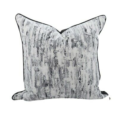 NEW Faux Silk Rippled Crinkle Ribbon Embroidered Sequin Cushion Cover Black Gold
