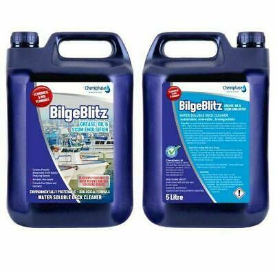 Bilge Blitz - Boat Cleaner Grease Oil and Scum Emulsifier & Deck Cleaner 2 x 5 L