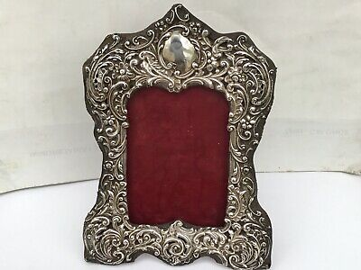 A Victorian Silver Embossed And Pierced Photograph Frame, Chester 1900