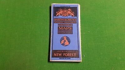 Sheet 5 New Forest Bartholomews Revised Half Inch Contoured Map, Cloth