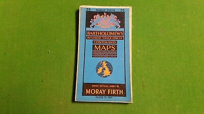 Sheet 55 Moray Firth Bartholomews Revised Half Inch Contoured Map, Cloth