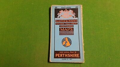Sheet 48 Perthshire Bartholomews Revised Half Inch Contoured Map, Cloth