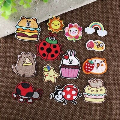Cute Embroidered Iron On/Sew On Patches Cartoon Clothes Applique Motif Transfer