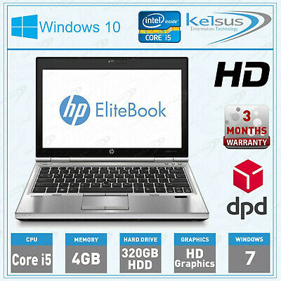 HP EliteBook 2570p Intel i5 @ 2.60GHz, 4GB RAM, 320GB HDD Windows 7 Laptop PC