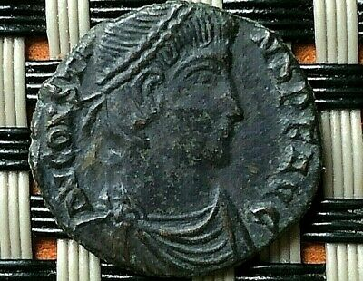 """Constans 337-350 Ad Ae Follis """"Emperor In Military Dress With Boat"""" Thessalonica"""