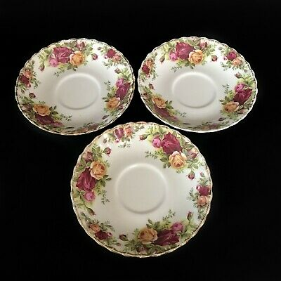 Royal Albert Old Country Roses 3 X Saucers (For Tea Cups)
