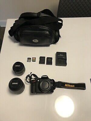 Nikon D3200 DSLR Camera with 1855mm VR II and 55200mm VR II Lenses Black