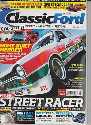 Classic Ford magazine 10/2010 safari escort crayford cortina old skool UK tranny