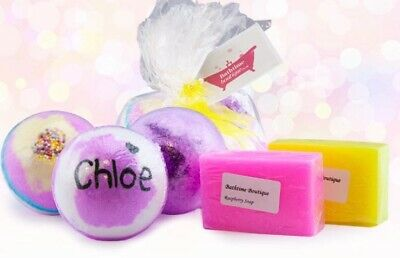 Personalised Bath Bomb & Soap Gift Set - Perfect for birthdays,christmas
