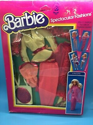 1984 Spectacular Fashion Barbie doll Outfit NRFB #7219 In the Pink set
