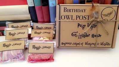 Harry Potter Gift OWL POST Sweets | Personalised Birthday. Wedding. Fathers Day