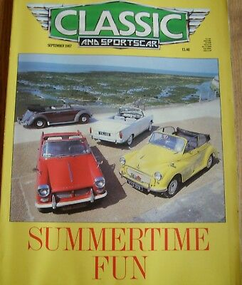 CLASSIC AND SPORTSCAR Magazine....September 1987