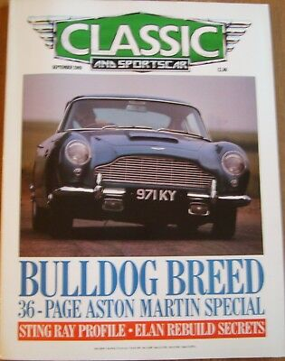 Classic And Sportscar Magazine....September 1989