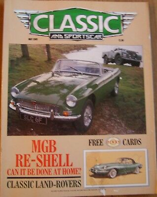 Classic And Sportscar Magazine....May 1989