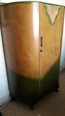 1920s Wardrobe wood with original paint effect