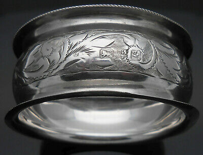 Antique Sterling Silver Napkin Ring - Chester 1913 - No Initials