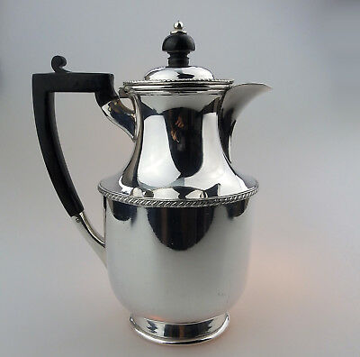 Antique Silver Plate a good sized Coffee Pot C.20thC