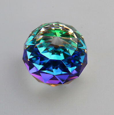 Art Glass : Swarovski Crystal Round 50mm Paperweight C.1970-89
