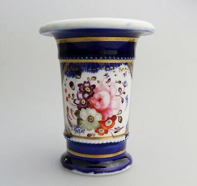 Antique English Porcelain a floral hand painted Spill Vase C.19thC