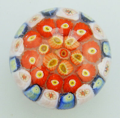 Vintage Scottish Glass Paperweights Strathearn ? Miniature millefiori cane 20thC