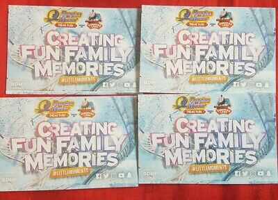 4 X Drayton Manor Park Tickets Spring Summer Season use for Adult or Child entry