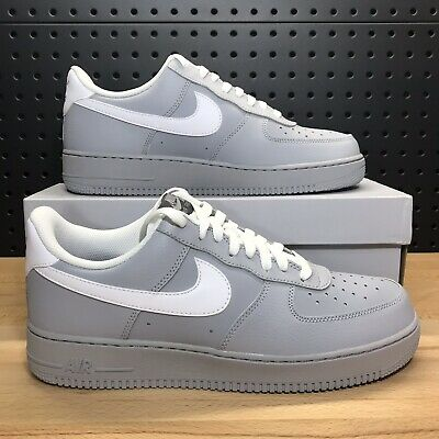 NIKE AIR FORCE 1 Low LV8 Leather Clay Green Marble White Sz