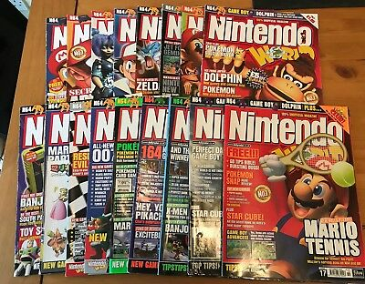 17x Nintendo World Magazine - N64, Game Boy - Complete Set