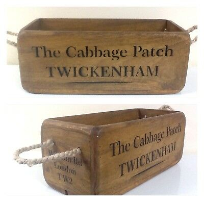 Rugby Twickenham Antique / Vintage Style Wooden Storage Crate / Box. Six Nations
