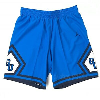 3e2d69cf40bd New Nike Georgetown Hoyas Jordan Flight Basketball Short Men s L Blue 865840