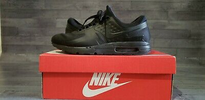 sports shoes 7ee97 902d8 Men s Nike Air Max Zero Essential Tripple Black, 876070 006 Size 9.5 Black