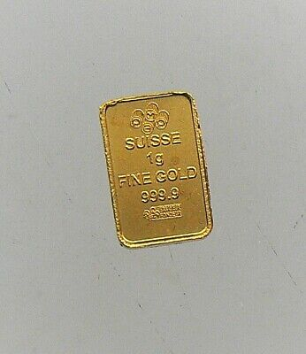 1 gram Pamp Suisse MULTIGRAM Gold Bar .9999 Fine