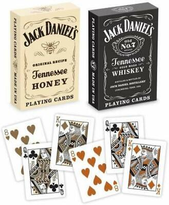 2 Decks Bicycle Jack Daniels Black and Honey Standard Poker Playing Cards New