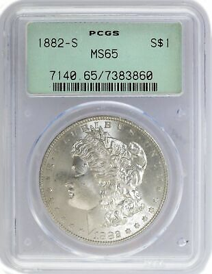 1882 S $1 Morgan Silver Dollar PCGS MS65 Generation 2.1 Old Green Holder OGH